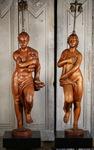 Paire de lampes, bois sculpté XVIII