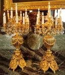Pair of monumental candelabras circa 1850