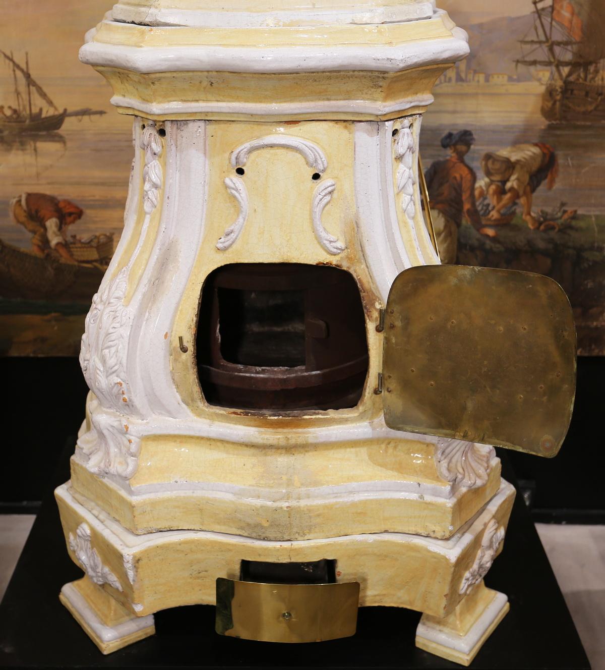 18th century earthenware stove