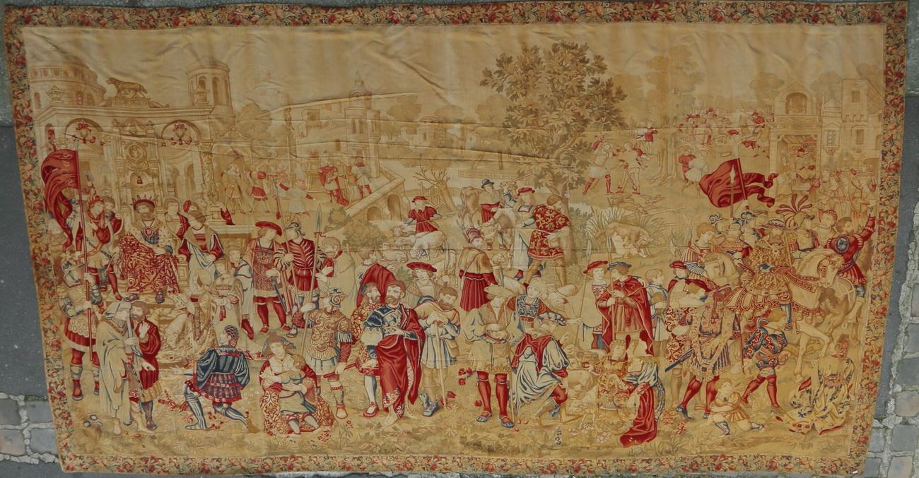 Importante tapisserie mécanique fin XIXème