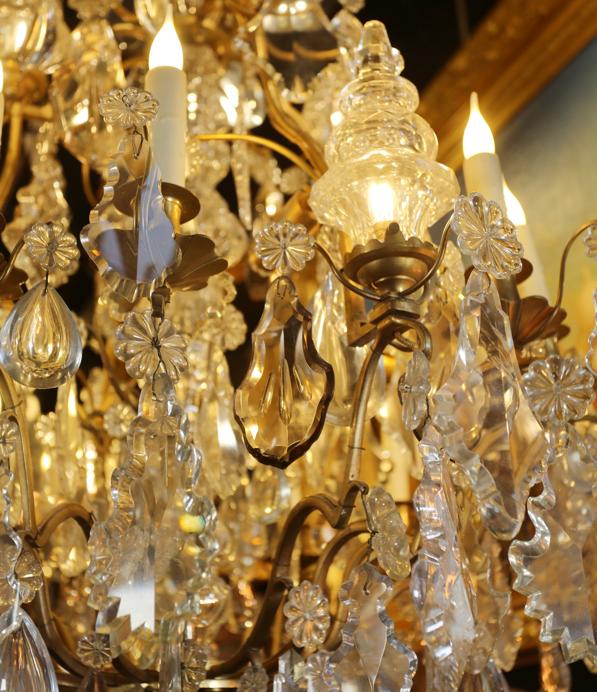 Louis XV style cage chandelier late nineteenth