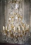 Lustre cage style Louis XV fin XIXème