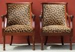 Jacob Frères, paire de fauteuils.