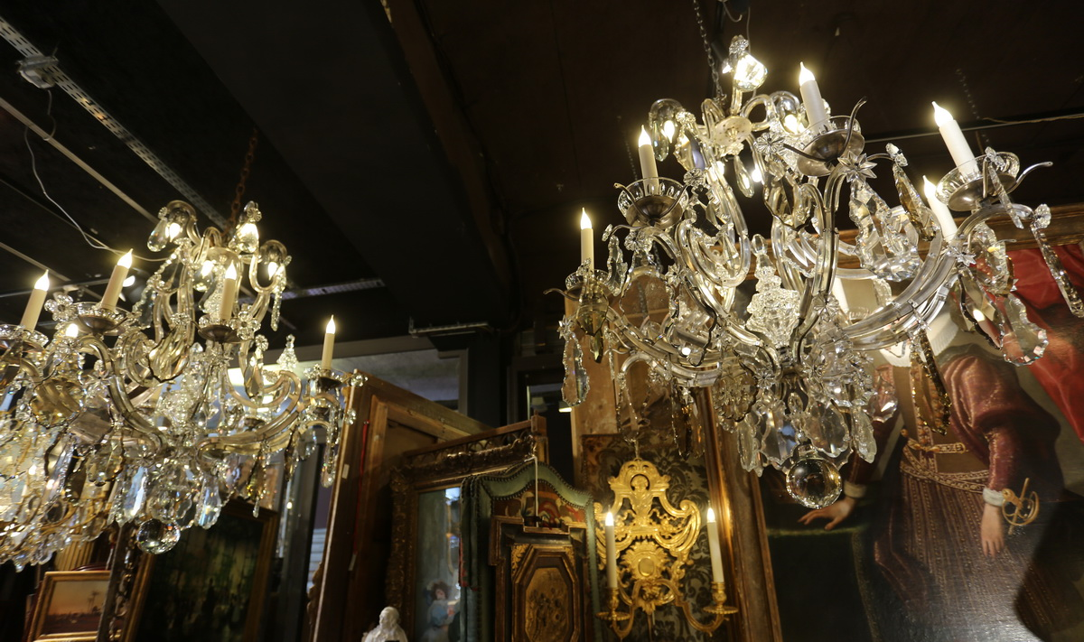Pair of Louis XV style chandeliers early twentieth