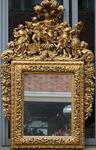 Important miroir à fronton; Italie XVIII