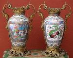Paire de vases Canton XIXème