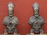 Paire de bustes reliquaire Italie XVIII