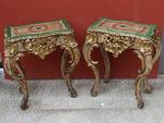 Paire de tables consoles style Louis XV