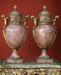 Pair of covered vases circa 1880