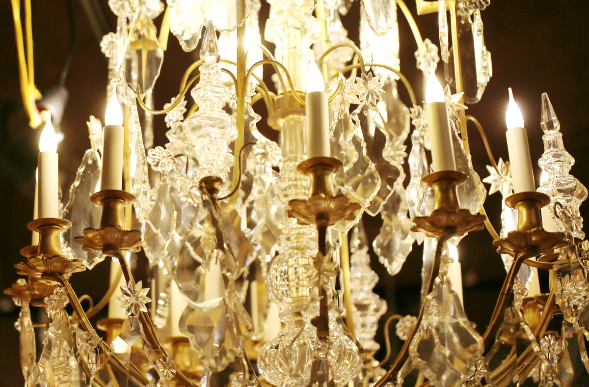 Important Louis XV style cage chandelier