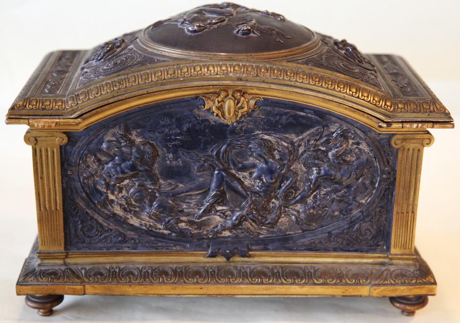 Léopold OUDRY XIX jewelry box