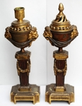 Pair of candlesticks cassolettes 18th