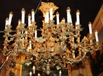 Important bronze chandelier circa 1850
