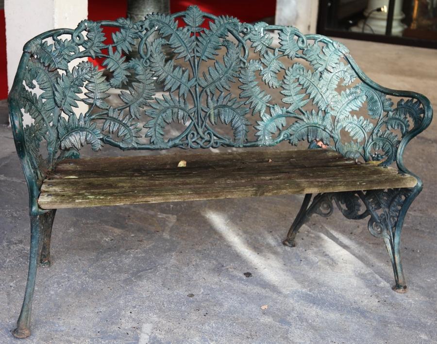 banc de jardin 1900. Black Bedroom Furniture Sets. Home Design Ideas