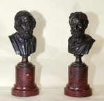 Pair of busts 19th