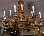 Lustre bois doré circa 1900