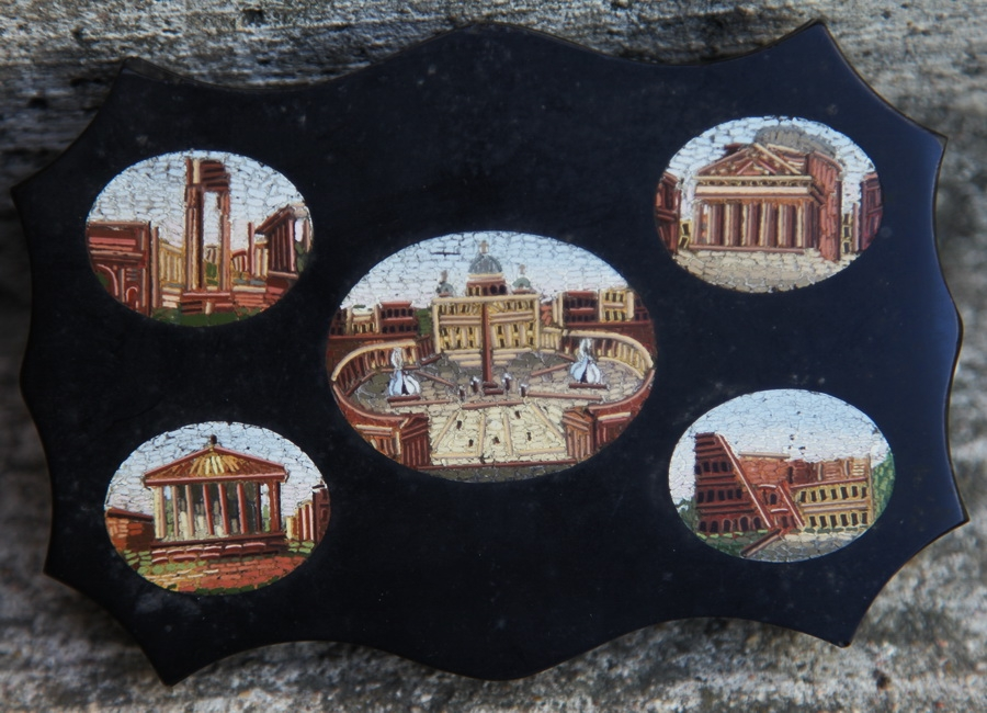 Roman micromosaic  circa 1880