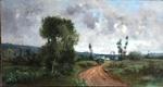 "Victor BINET 1849-1924 ""Paysage de campagne"""