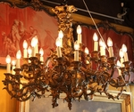 bronze chandelier circa 1880