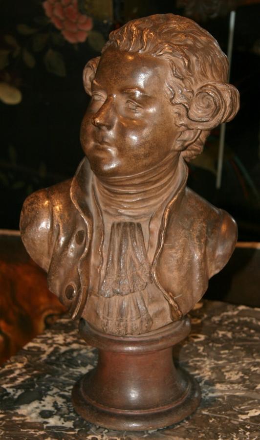 Bust terra-cotta style XVIII