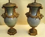 Paire de vases balustre fin XIX