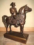 """French school the XIXth end """" Napoleon on horse """""""