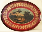 Oval tray 18th