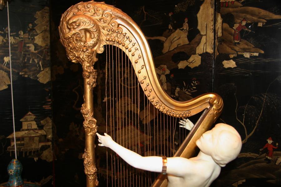"""Louis CHALON 1866-1940  """"jeune harpiste"""""""