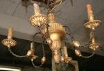 lustre bois et tôle fin XIX
