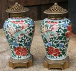 paire de vases en porcelaine de Chine époque Ming