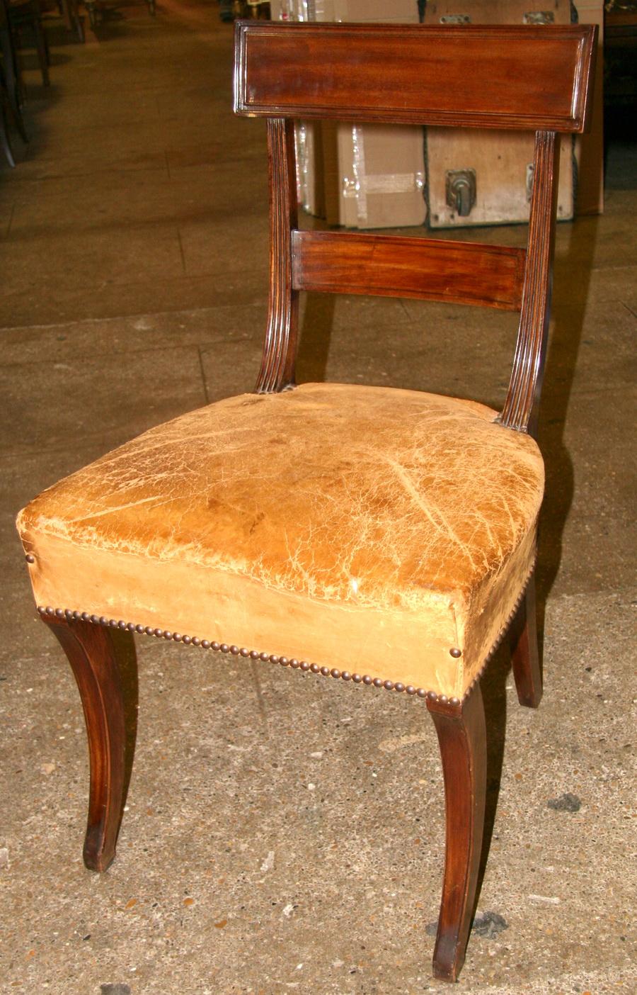 8 chaises en acajou XIX