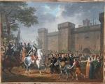 """Hippolyte LECOMTE 1781-1857 """"L'arrivée triomphale d'Henri IV à Pau"""""""