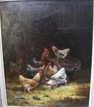 """Charles MARECHAL 1865- école française """"Le poulailler"""""""
