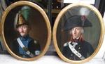 "Joseph COMBETTE 1770-1840 "" pair of officers' portraits """