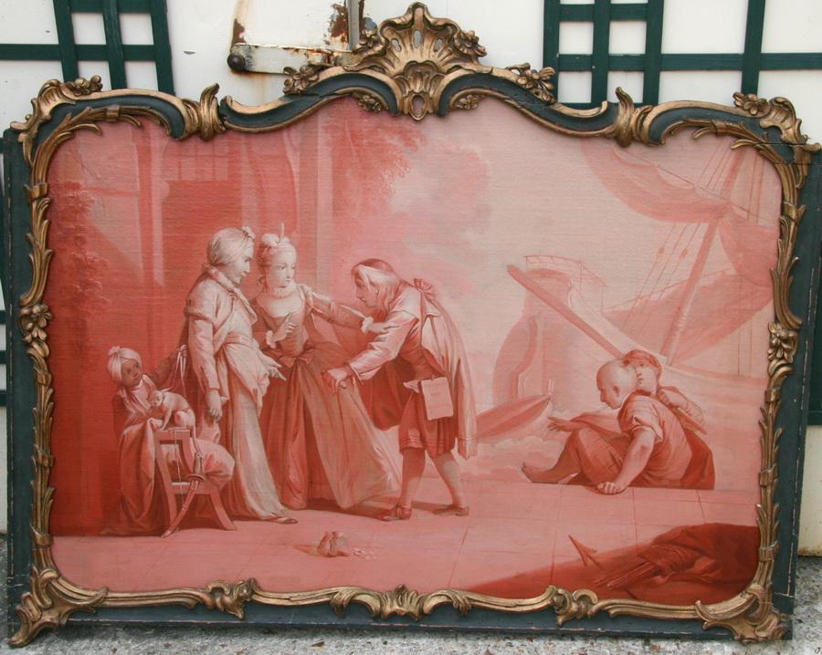 Ecole française du XVIII paire dessus portes