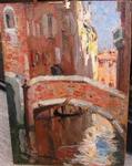 "Abel TRUCHET 1857-1918 Ec. Fr "" bridge  in Venice """