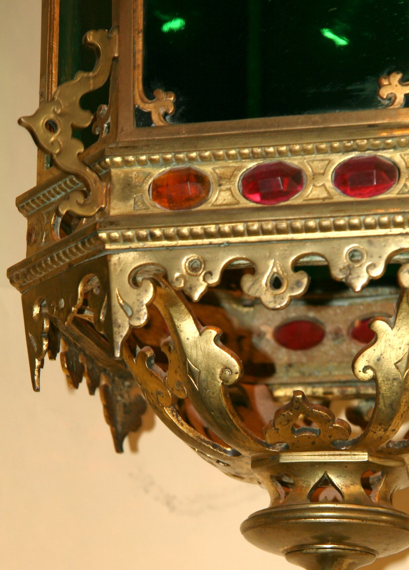 Lanterne bronze fin XIX ème