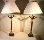 Paire de lampes XIX
