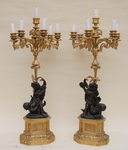 "Paire de candélabres ""PUTTI"" circa 1850"