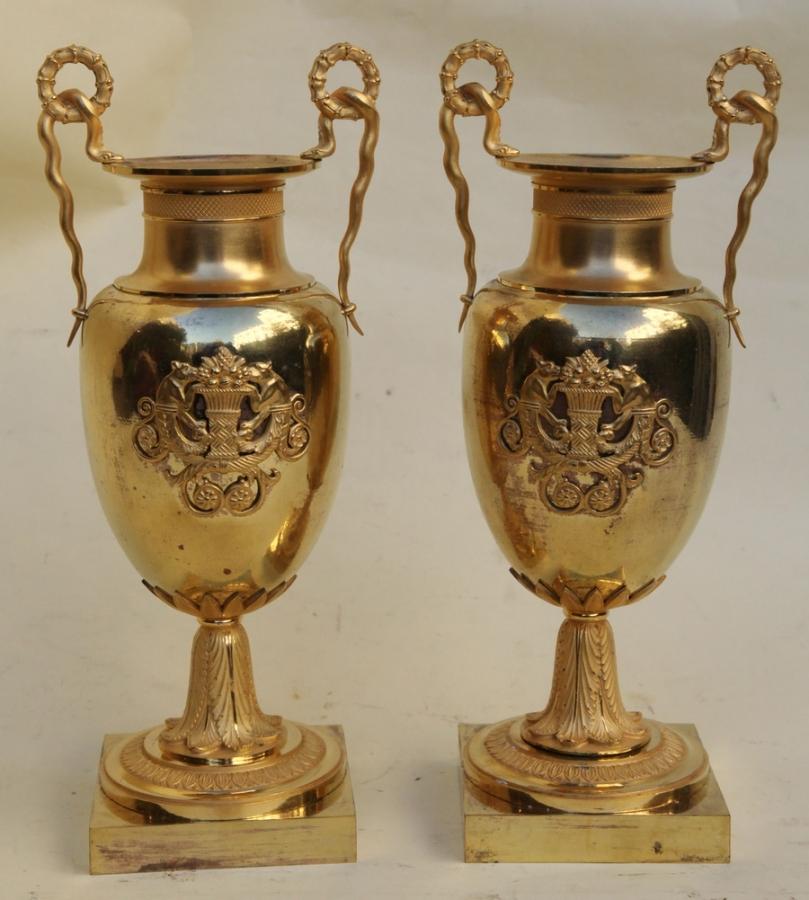 Paire de vases Charles X