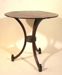 Pedestal table in mahogany 19th