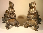 Front pair bronze fireplace